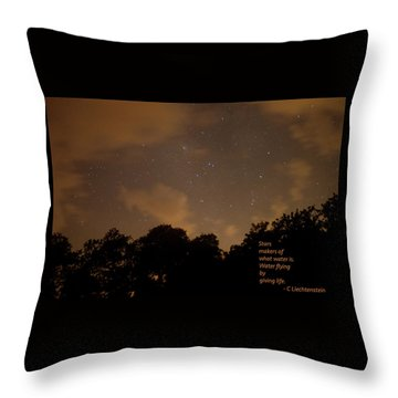 Life, Water And Stars Throw Pillow
