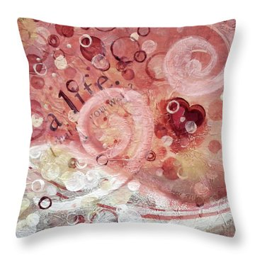 Life What Do You Want Throw Pillow by Kristen Abrahamson