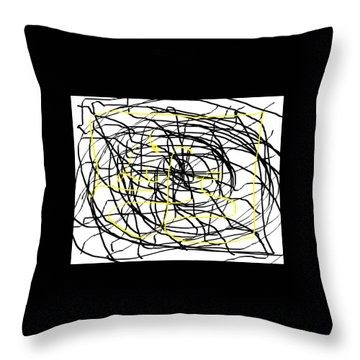 Life. White And Black Life Period But Sunlight Forever. Throw Pillow