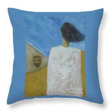 Throw Pillow featuring the painting Lifeboat by Glenn Quist