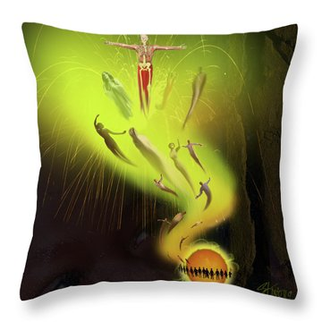 Lifedeath Throw Pillow