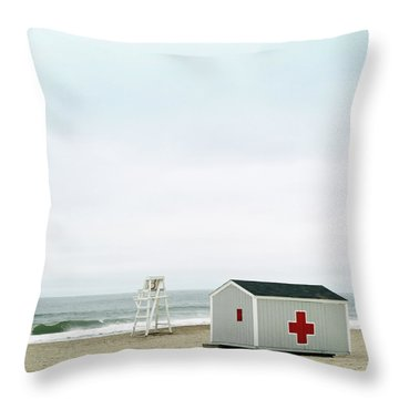 Lifeguard Chair And First Aid Station Throw Pillow