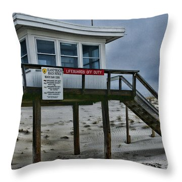 Lifeguard Station 1 Throw Pillow by Paul Ward
