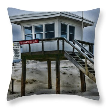 Lifeguard Station 2  Throw Pillow by Paul Ward