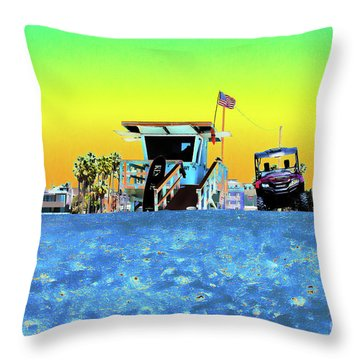 Lifeguard Tower 1 Throw Pillow