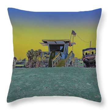 Lifeguard Tower 4 Throw Pillow