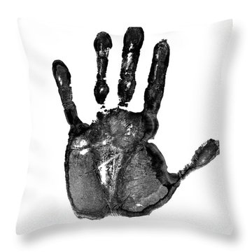 Lifeline - Free Hand Throw Pillow
