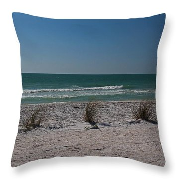 Throw Pillow featuring the photograph Life's A Beach by Michiale Schneider