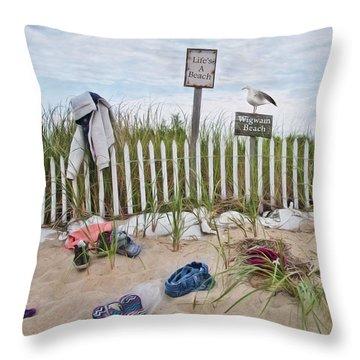 Throw Pillow featuring the photograph Life's A Beach by Robin-Lee Vieira
