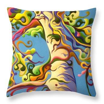 Life's A Birch Throw Pillow