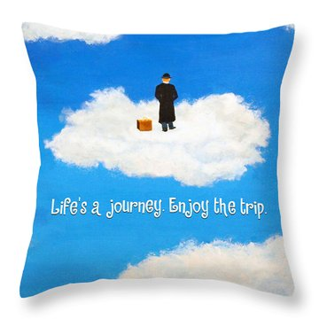Life's A Journey Greeting Card Throw Pillow