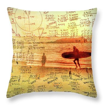 Life's Crossing Throw Pillow by Charles Ables