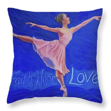 Throw Pillow featuring the painting Life's Dance by Jeanette Jarmon