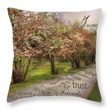 Life's Journey Throw Pillow