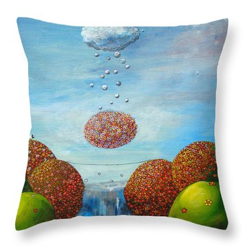 Life's Path Throw Pillow by Mindy Huntress