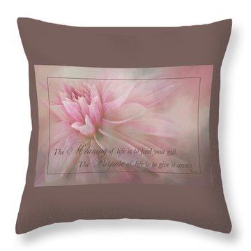 Lifes Purpose Throw Pillow