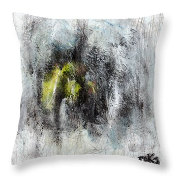 Throw Pillow featuring the painting Lift by Rick Baldwin