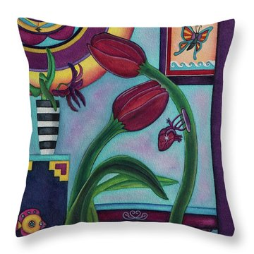Lifting And Loving Each Other Throw Pillow