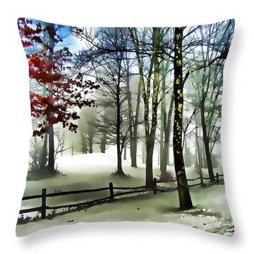 Lifting Fog Throw Pillow