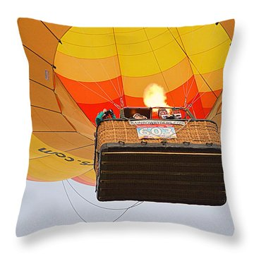 Throw Pillow featuring the photograph Liftoff by AJ Schibig