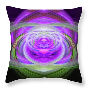 Light Abstract 3 Throw Pillow