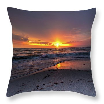 Light Along The Shore Throw Pillow