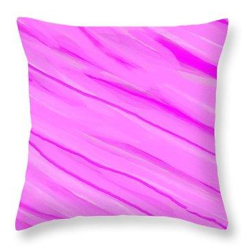 Light And Dark Pink Swirl Throw Pillow