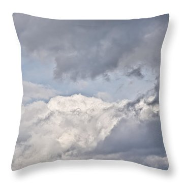 Throw Pillow featuring the photograph Light And Heavy by Wanda Krack