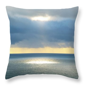Throw Pillow featuring the photograph Light And Lighthouse by Suzette Kallen