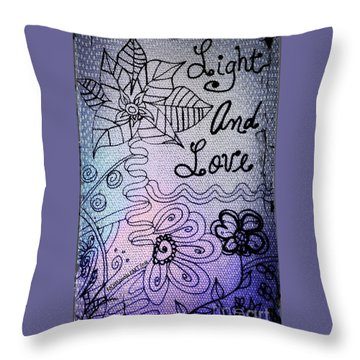 Light And Love Throw Pillow