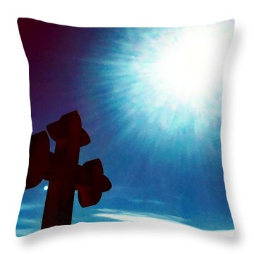 Light And Shadow Clash Throw Pillow