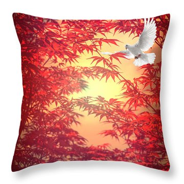 Throw Pillow featuring the photograph Light As A Feather by Philippe Sainte-Laudy