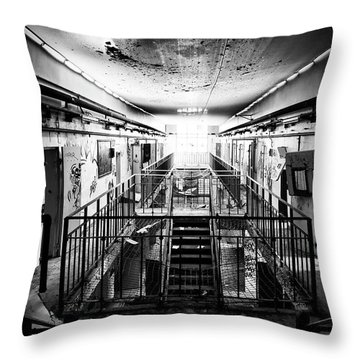 Light At The End Of The Hellway Throw Pillow by Dirk Ercken