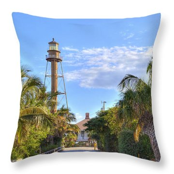 Light At The End Of The Road Throw Pillow