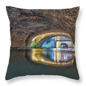 Light At The End Of The Tunnel Throw Pillow by Frans Blok