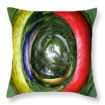 Light At The End Of Tunnel Throw Pillow