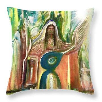 Light And The Awakening  Throw Pillow