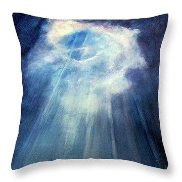 Light Beams Throw Pillow