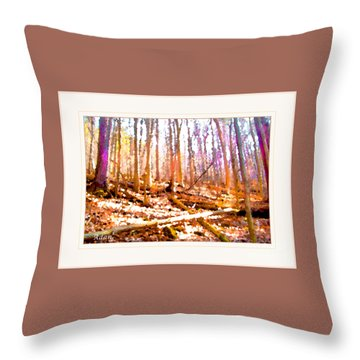 Throw Pillow featuring the photograph Light Between The Trees by Felipe Adan Lerma