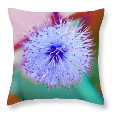 Light Blue Puff Explosion Throw Pillow by Samantha Thome