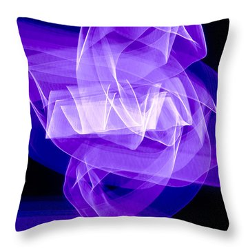 Throw Pillow featuring the photograph Light Bulb Purple by Kevin Blackburn