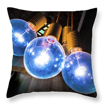 Light Bulbs Throw Pillow