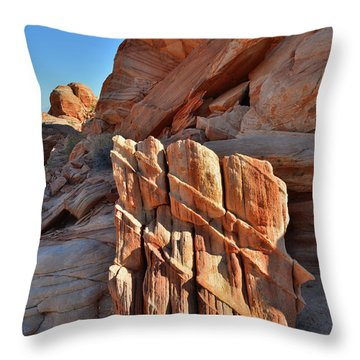 Light Creeps In At Valley Of Fire State Park Throw Pillow