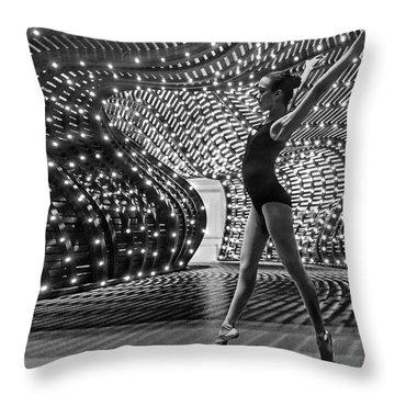 Throw Pillow featuring the photograph Light Dance by Alan Raasch