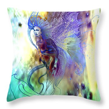 Light Dancer Throw Pillow