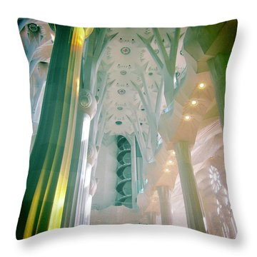 Light Dancing On The Ceiling Throw Pillow