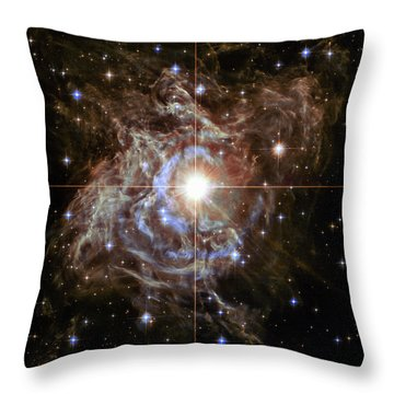Throw Pillow featuring the photograph Light Echoes by Marco Oliveira