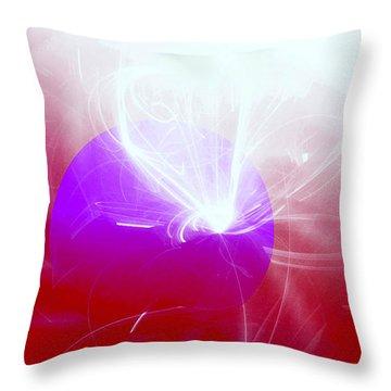 Light Emerging Throw Pillow