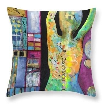 Light Energy Throw Pillow by Karin Husty