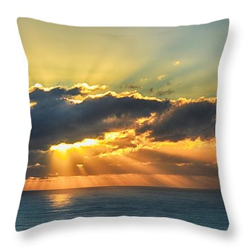 Light Explosion Throw Pillow by AJ Schibig